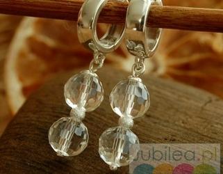 Disco - srebrne kolczyki z kryształem
