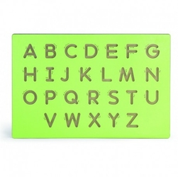 Nauka pisania wielkie litery szablon do tablicy drewnianej viga