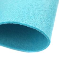 Dekoracyjny filc gładki 30x45 cm - niebieski jasny - NIEJAS