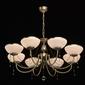 Duży żyrandol rustykalny, antyczny mosiądz i kryształ mw-light classic 347019208