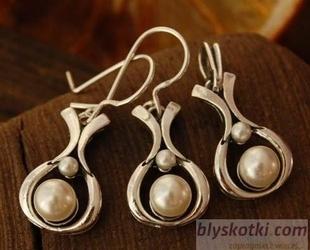 Essco - srebrny komplet z perłami