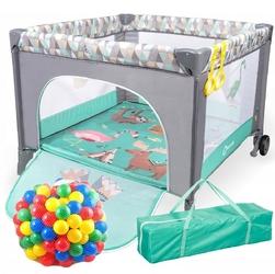 Lionelo sofie turquise scandi kojec dla dziecka + 62 piłeczki