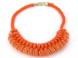 Naszyjnik koralowy pomarańczowy kolia - coral
