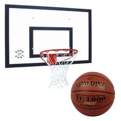 Zestaw do koszykówki tablica 120x90 cm + obręcz + piłka spalding tf-1000 legacy