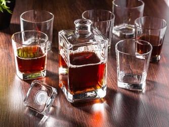 Zestaw do whisky hrastnik - karafka 0,75 l i szklanki 0,28 l 6 szt.