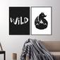 Zestaw dwóch plakatów - wild fox , wymiary - 20cm x 30cm 2 sztuki, kolor ramki - czarny, kolor ramki - biały, wymiary - 70cm x 100cm 2 sztuki