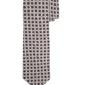Szary wełniany krawat profuomo w granatowy i bordoy wzór