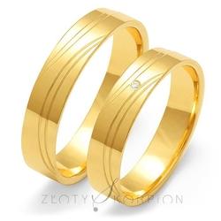 Obrączki ślubne złoty skorpion – wzór au-o125