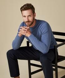 Niebieski sweter męski s
