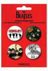 Beatles Red - zestaw 4 przypinek