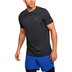 Koszulka męska under armour rush seamless fitted ss - czarny