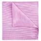 Poszetka jedwabna różowa, prosty splot