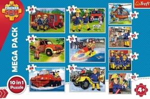 Puzzle 10w1 fireman strażak sam 90356 trefl