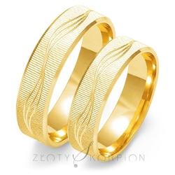 Obrączki ślubne złoty skorpion – wzór au-o110