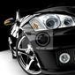 Plakat czarny samochód