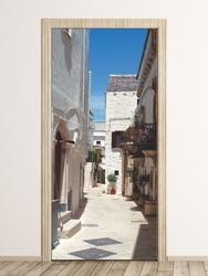 Fototapeta na drzwi uliczka p84