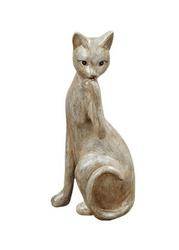 Figurka podpierającego głowę kota