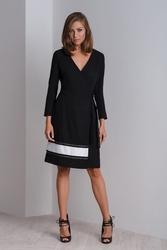 Elegancka koktajlowa czarna sukienka cala