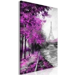 Obraz - paryski kanał 1-częściowy pionowy różowy