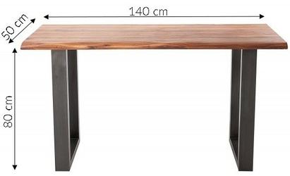 Konsola drewniana conrad industrialny akacja