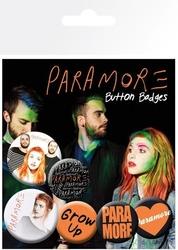 Paramore logo - zestaw 6 przypinek