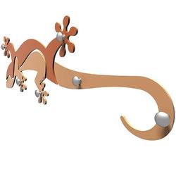 Wieszak ścienny gecko calleadesign cedrowo-zielony 54-13-1-51
