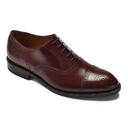 Eleganckie brązowe skórzane buty męskie typu brogue 42
