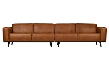 Be pure sofa statement xl 4-osobowa 372 cm ekoskóra koniakowa 378656-09