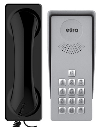 Domofon eura adp-37a3 ingresso nero 1-rodzinny kaseta zewnętrzna z szyfratorem