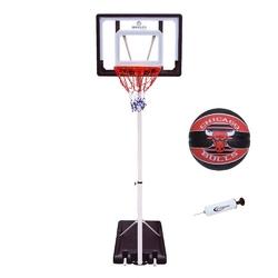 Zestaw kosz do koszykówki mobilny regulowany + piłka spalding + pompka