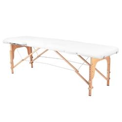 Stół składany do masażu wood komfort 2 segmentowe white