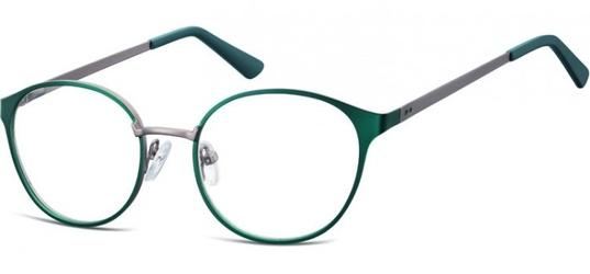 Oprawki okularowe kocie oczy damskie stalowe sunoptic 941d zielono-grafitowe