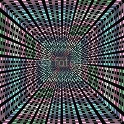 Obraz na płótnie canvas czteroczęściowy tetraptyk widok pastelowego tunelu