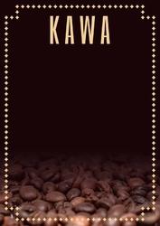 Tablica magnetyczna kredowa kawa 25