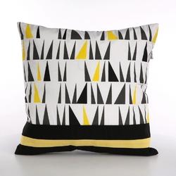 Poszewka na poduszkę dekoracyjna altom design, kolekcja ibiza, dekoracja trójkąty 40x40 cm