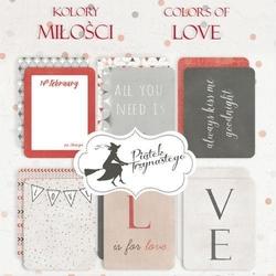 Ozdobne karty do journalingu Kolory miłości - KOMI