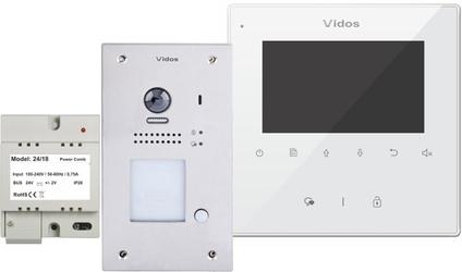 Wideodomofon vidos duo m1022w  s1201a - możliwość montażu - zadzwoń: 34 333 57 04 - 37 sklepów w całej polsce