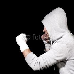 Obraz na płótnie canvas trzyczęściowy tryptyk boksowanie