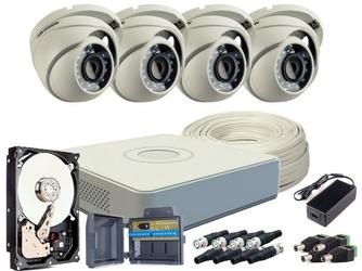 Zestaw hd-tvi 4 x kamera fullhd, rejestrator 4ch + dysk tb - szybka dostawa lub możliwość odbioru w 39 miastach