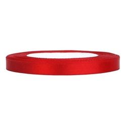 Tasiemka satynowa 6mm 32m - czerwona - cze