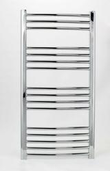 Grzejnik łazienkowy wetherby - elektryczny, wykończenie zaokrąglone, 500x1000, chromowany