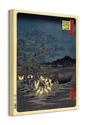 Foxes at the changing tree in oji - obraz na płótnie
