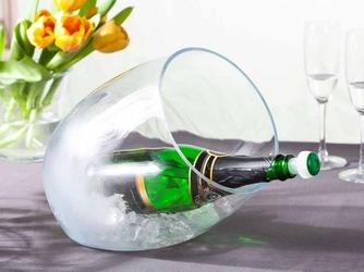 Wiaderko  pojemnik szklany na lód do schładzania wina i alkoholi edwanex