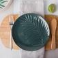 Talerz deserowy porcelanowy altom design tropical 20 cm zielony