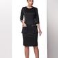 Czarna elegancka wizytowa sukienka z kieszeniami