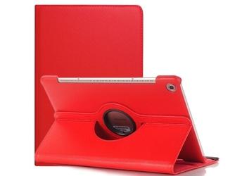 Etui obrotowe 360 huawei mediapad m5 10.8 m5 pro czerwone + szkło - czerwony