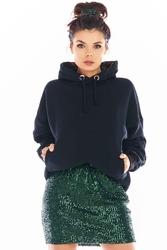 Spódniczka mini na gumce z cekinami - zielona