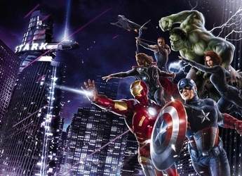 Fototapeta na ścianę avengers city night 4434