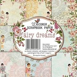 Papiery do scrapbookingu Fairy dreams 15,2x15,2cm24szt.