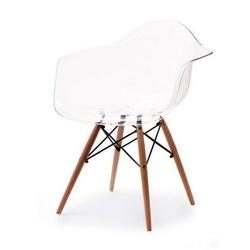 Krzesło ogrodowe tunis wood transparentne
